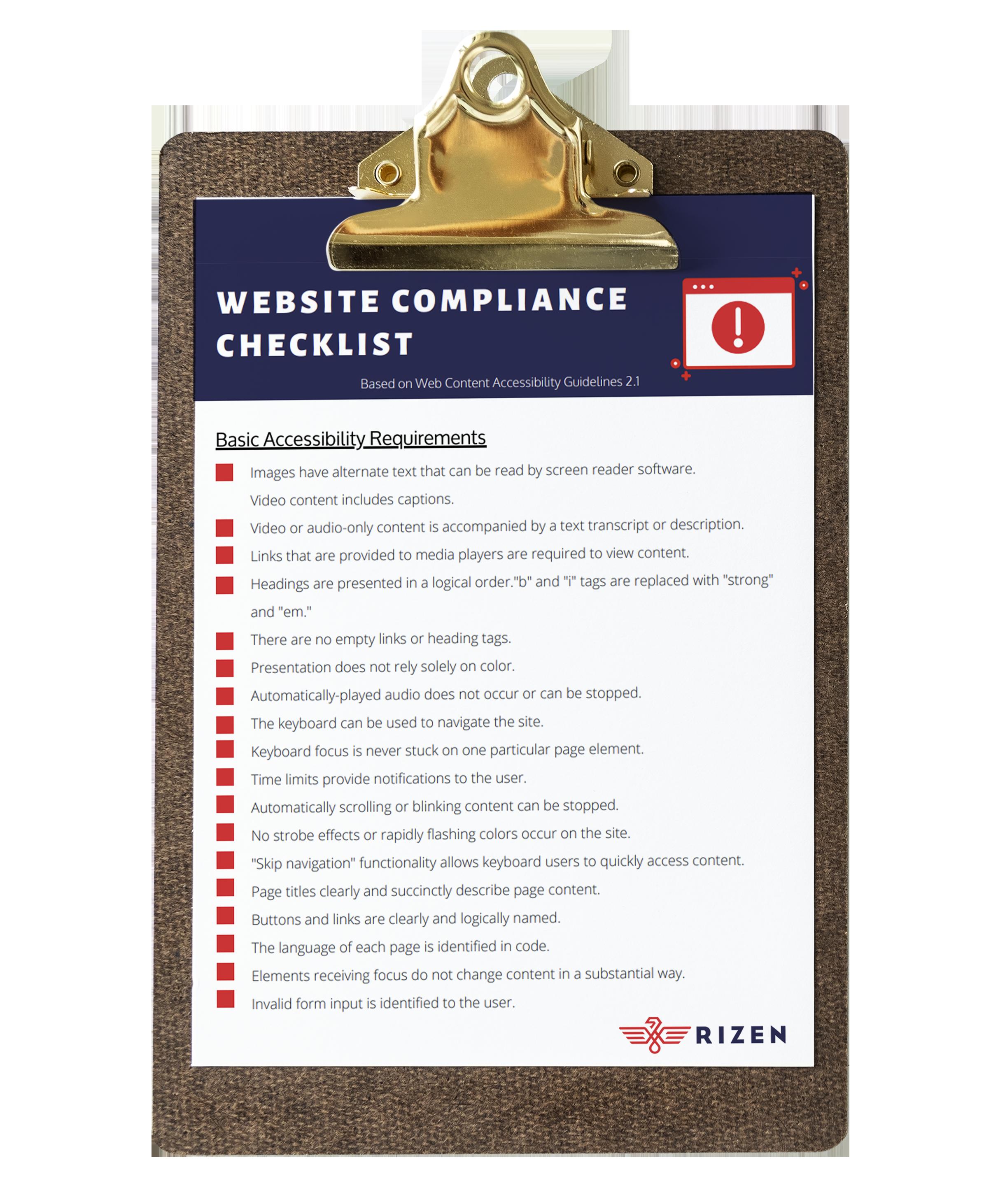 ADA checklist